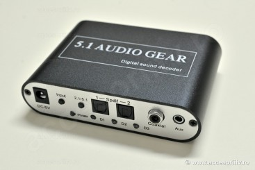 Convertor Audio Digital - Analog 5.1 cu decodare AC3 (Dolby Digital) si DTS