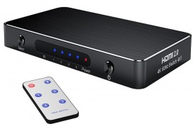 HDMI Switch, 4 intrari, telecomanda, 4K (Ultra HD) la 60 Hz, HDR, HDCP