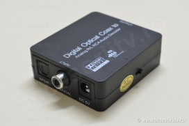 Convertor audio digital analog. Decodare Dolby Digital si DTS. Pret. Converter adaptor optic spdif toslink coaxial / RCA jack