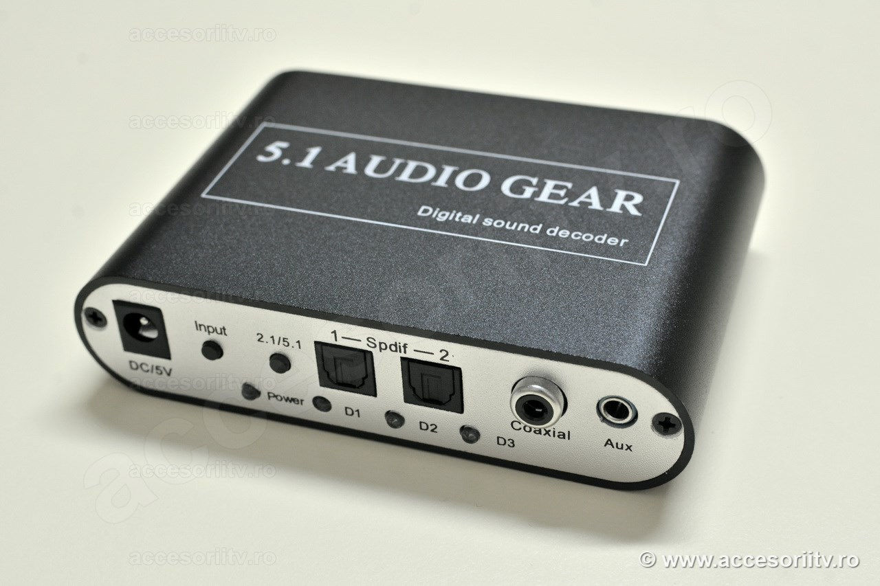 Convertor audio digital la analog 5.1 canale - Front