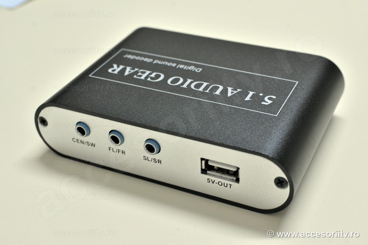 Convertor audio digital la analog 5.1 canale - Back