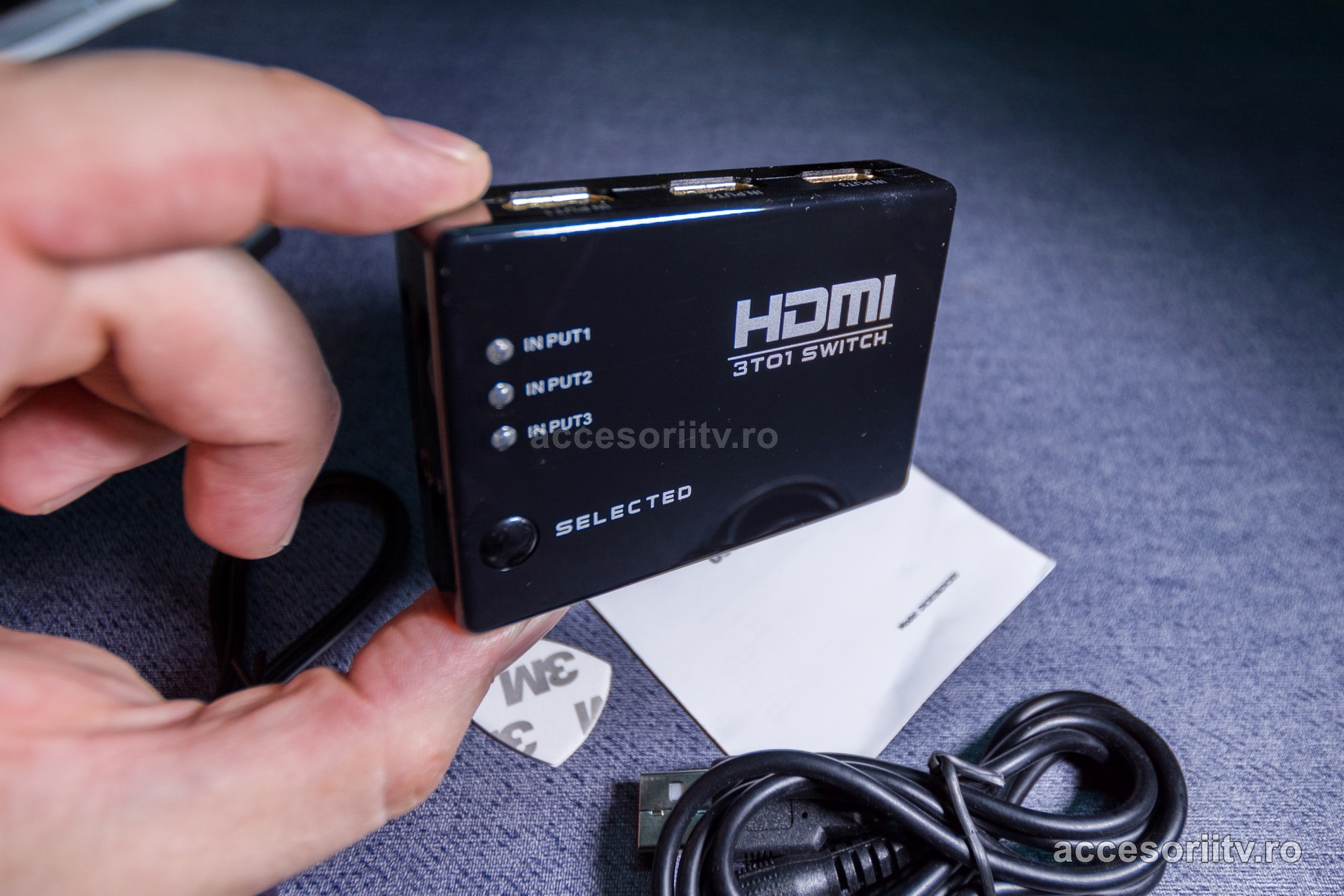 hdmi switch 3 porturi telecomanda 07