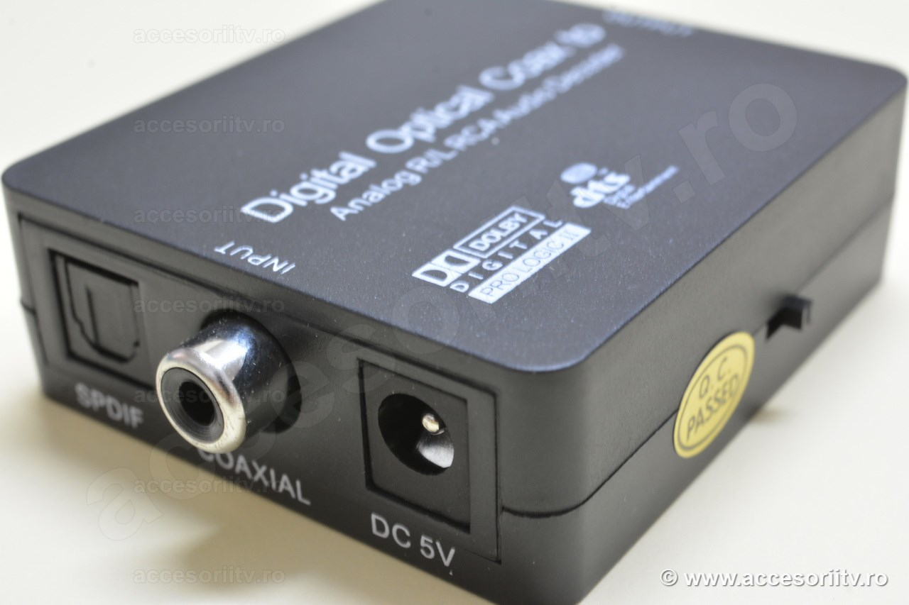 digital optical converter to analog audio